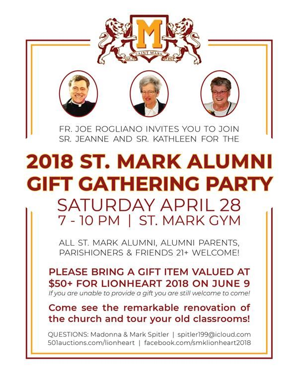 Did you attend SMK? Are you over 21? Join us for our Alumni Gift Gathering Party...