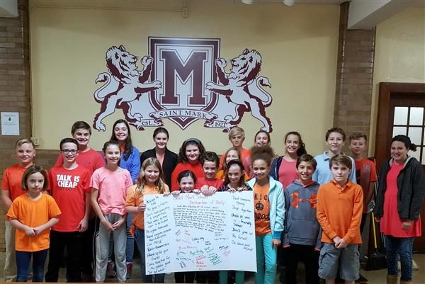 St. Mark Students Create Declaration of Unity